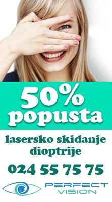 Lasersko skidanje dioptrije - 50% popusta